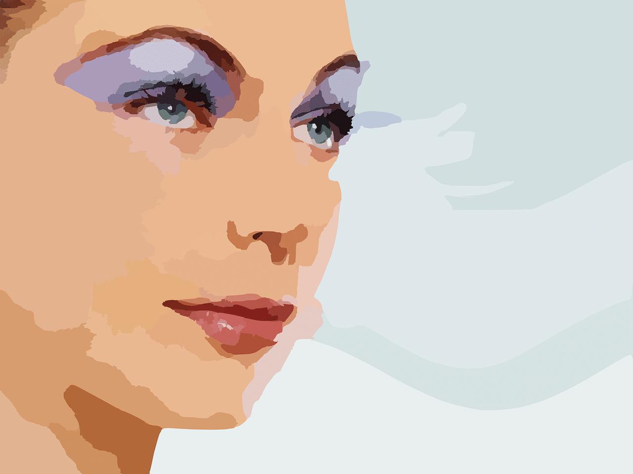 Mujer tratamiento belleza
